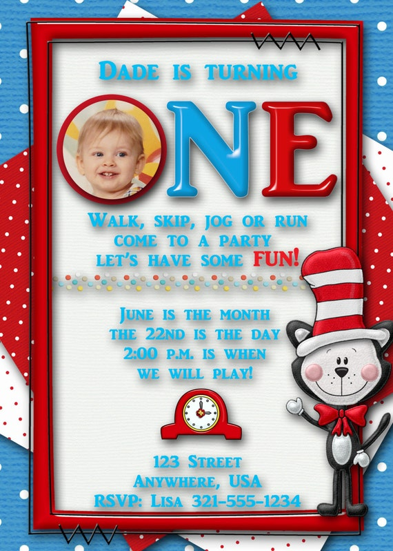 Dr Seuss 1St Birthday Invitations was very inspiring ideas you may choose for invitation ideas