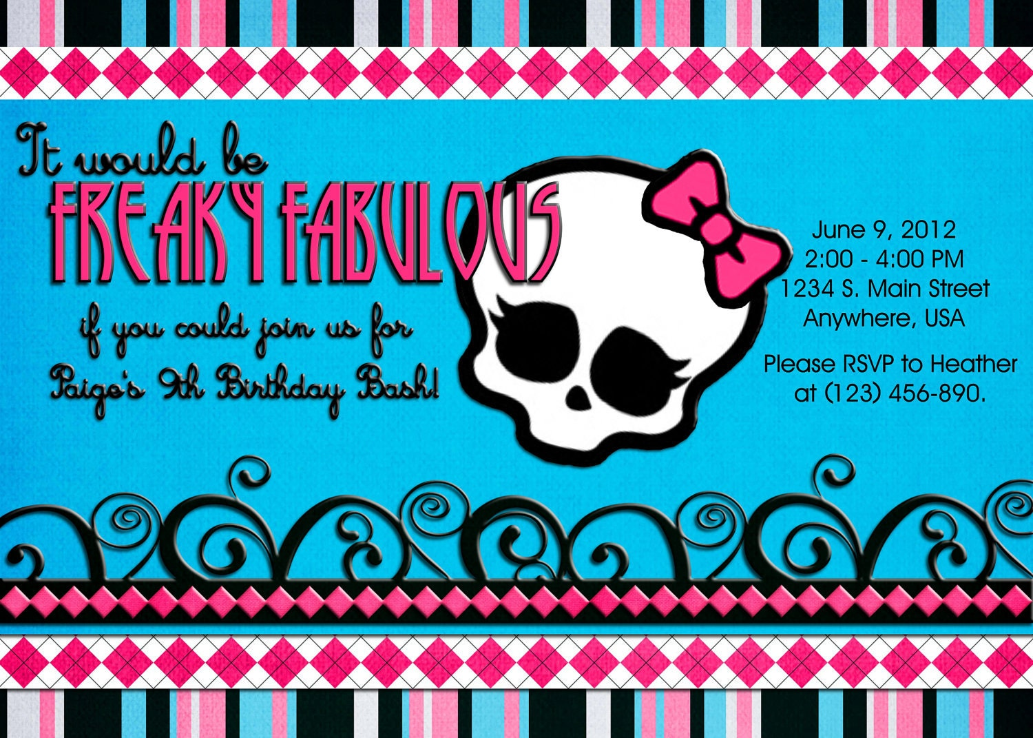 Monster High Party Invitations is the best ideas you have to choose for invitation example