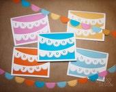 Laser Cut Thank You Card Set- Set of Five