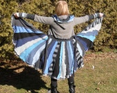 RESERVED LISTING  Dragonfly Rags Upcycled Sweater Coat - Raincloud