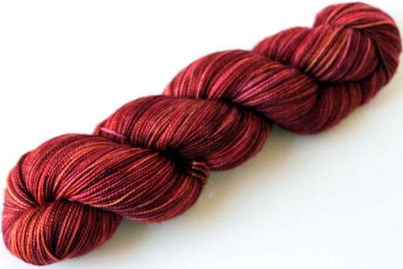 "Kettle Dyed Sock Yarn, Superwash Merino and Nylon Fingering Weight, in ""Quinoa"""