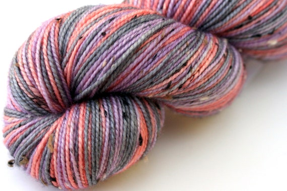 "Self Striping Sock Yarn, Superwash Merino and Nylon Donegal Fingering Weight, in ""Mesa Sunrise"""