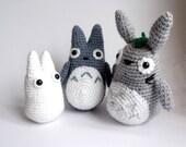 Totoro Crochet Amigurumi Set - Made to order