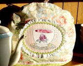 English Rose Garden Tea Cosy with cup and saucer motif