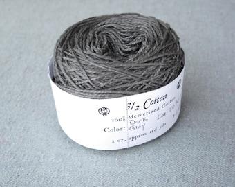 Dark Grey 3/2 Mercerized Cotton