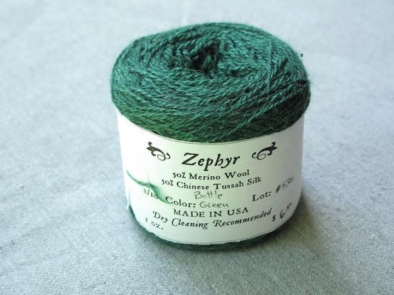 Bottle Green 2/18 Zephyr Wool/Silk Yarn