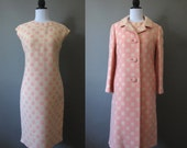 vintage 1960s pretty in pink dress and coat set
