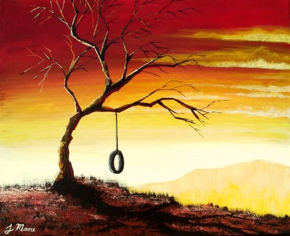 Simple Bliss Original Acrylic Landscape Painting Fine Art