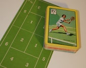 Fred Perry's Wimbledon Tennis Game,  A Pepys Original Card Game made in Great Britain 1960.