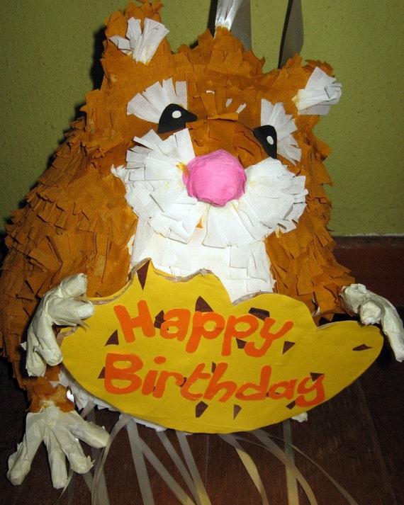 Items Similar To Birthday Party Pinata Hamster Pull