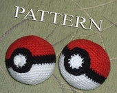Crochet Pokeball - pattern in PDF - Two options of the button :o)