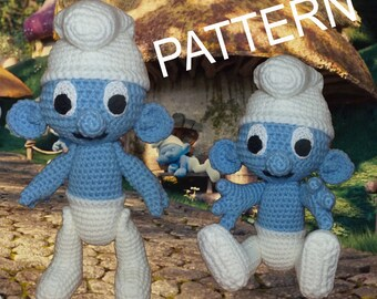 Crochet Smurf - pattern in PDF