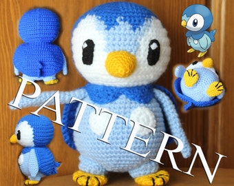 Crochet Pokemon Piplup - pattern in PDF