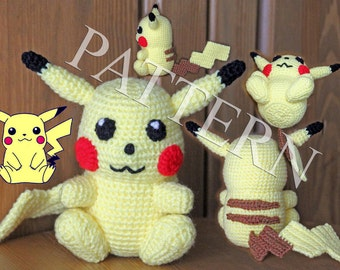 Crochet Pokemon Pikachu - Pattern in PDF