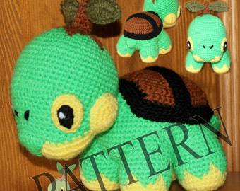 Crochet Pokemon Turtwig - Pattern in PDF