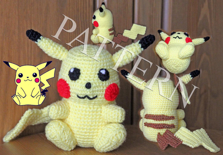 Crochet Pokemon Pikachu Pattern in PDF