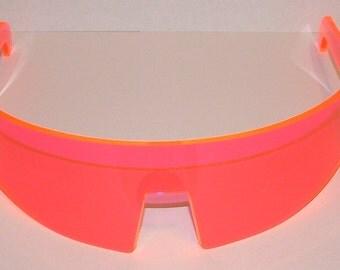 Visor glasses anime simple rounded straight flat top cosplay wrap visor