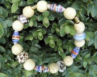 SALES - Paper Bead Bracelet - FREE UK delivery