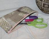 Handmade Silk Mini Mii Zippered Pouch