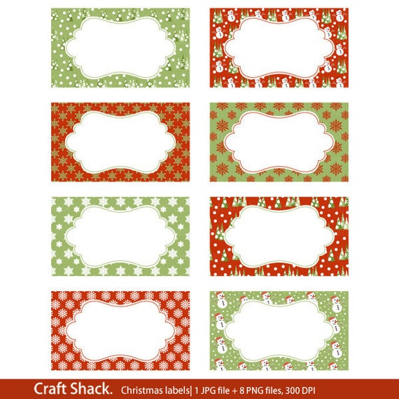 Items Similar To Printable Christmas Labels Print Your Own