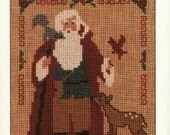 Homespun oOllectibles Counted Cross Stitch Santa Pattern Number 32