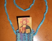 3 Orthodox Handwoven Icon Necklace Purses Student Gift Travel Icon for Twenty Dollars