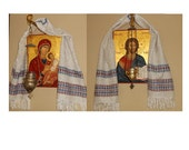 Pair of Handwoven Orthodox Icon Towels Scarves Stergar Salfetki Nushniki Table Runner