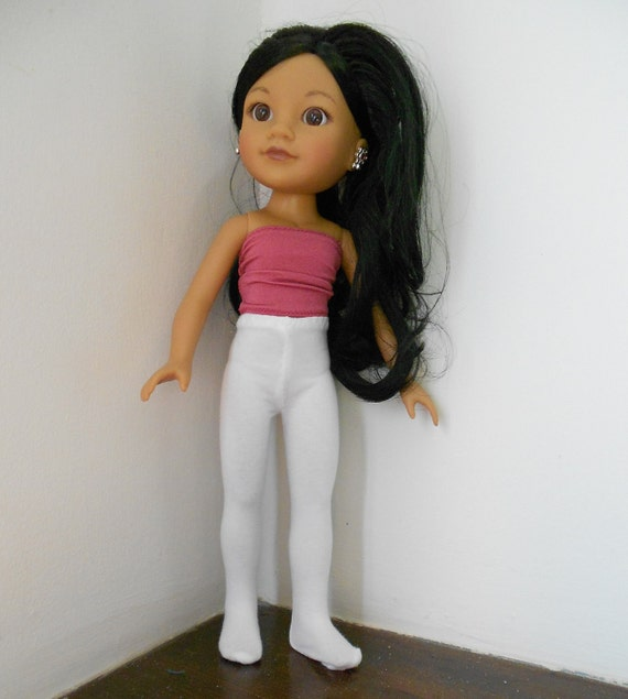 """White Tights for Hearts for Hearts Doll 13-14"""" Dolls H4H, Corolle Les Cheries, Betsy McCall Doll Wardrobe Basics"""