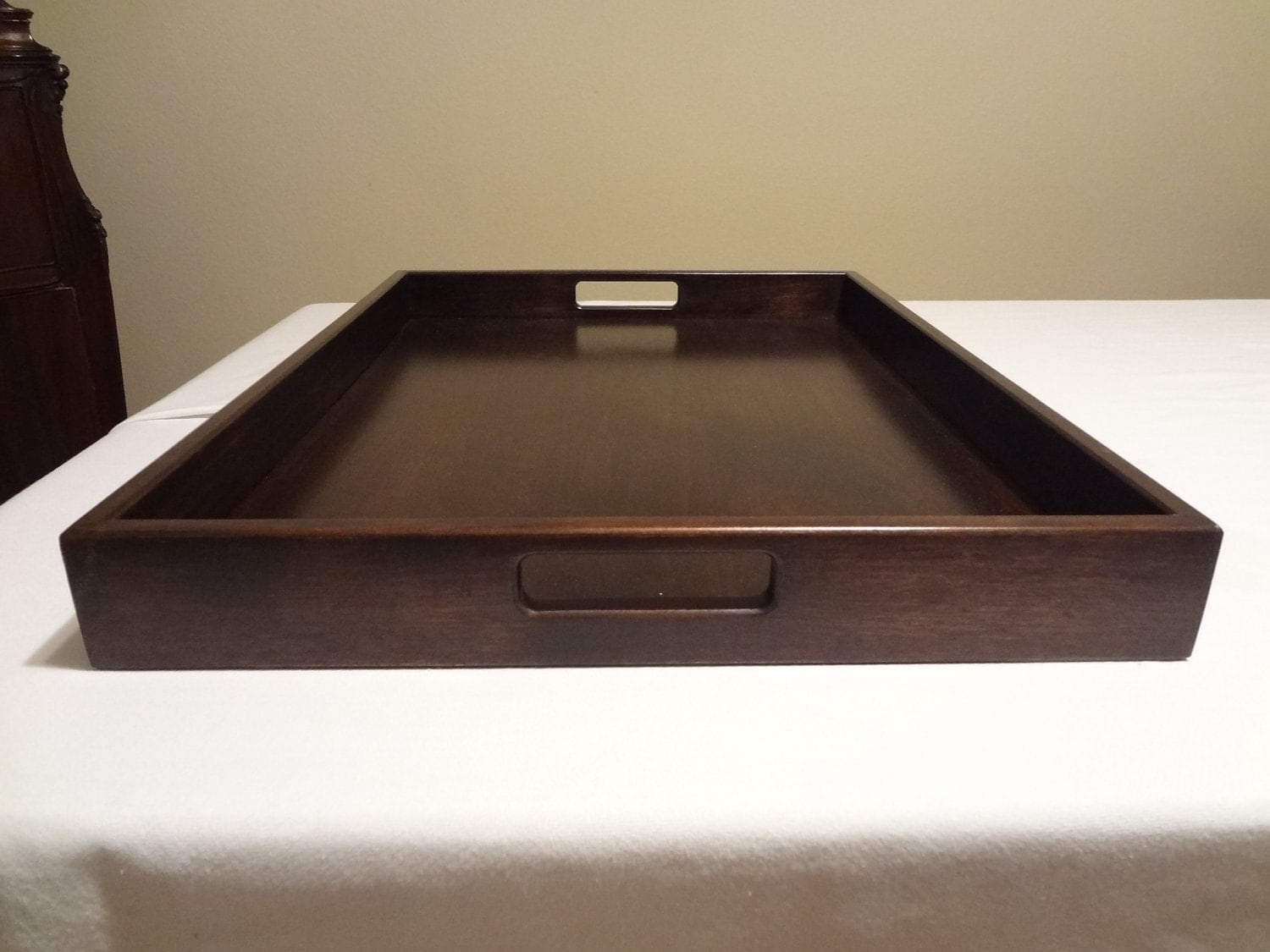 Custom made ottoman or serving tray