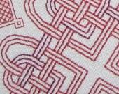 Celtic Hearts Knots PDF Pattern Blackwork Redwork
