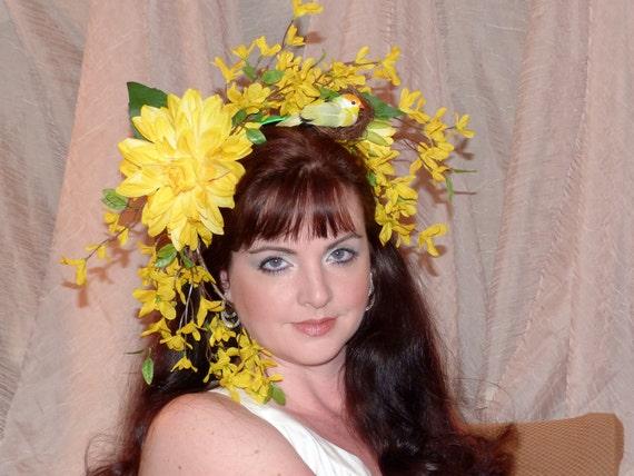 GOOD DAY SUNSHINE Headdress Hair Adornment ooak