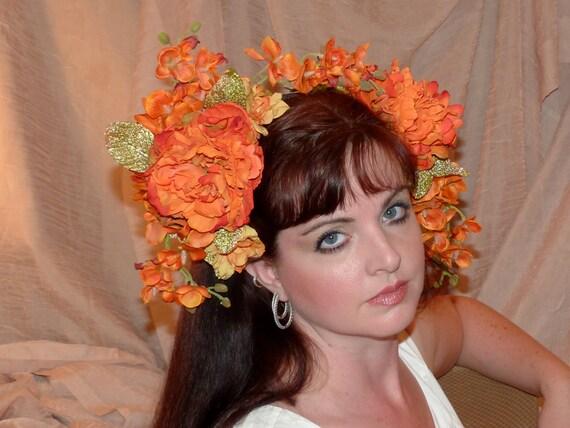 MEXICAN SUNRISE Headdress Hair Adornment ooak