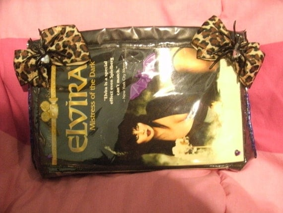 ORIGINAL Elvira mistress of the dark vinyl VHS pouch