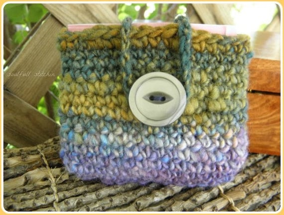 Tea Bag Pouch Business Card Pouch Tea Bag Cozy Small Crochet Wallet