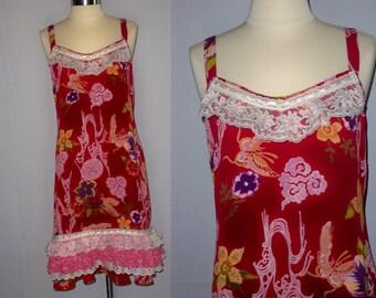 Upcycled, Recycled Zoe California - Shabby Chic - Slinky Dress