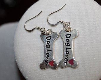 Dog Lovers Dog Bone Earrings