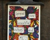Spread Your Beautiful Wings and Fly single card