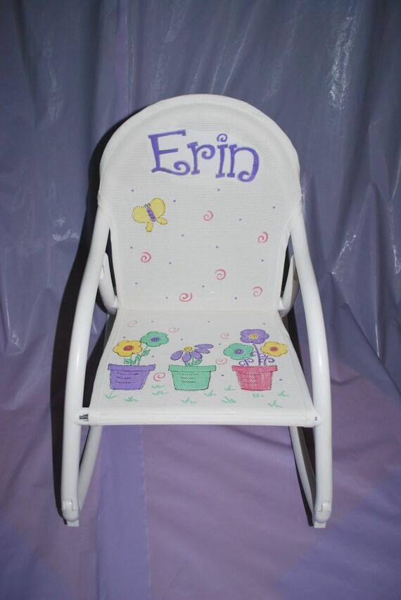 Kids Hand Painted Flower Pots Hoohobbers Kids Rocking Chair Flower ...