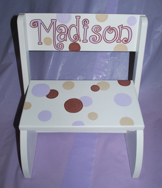 Children S White Or Natural Flip Step Stool By