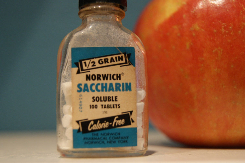 Vintage 1950 Sminiature Bottle Of Saccharine Sweetener
