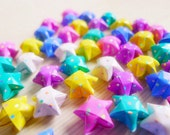 100 Candy Color Lovely Polka Dot Origami Stars
