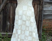 Patchwork Vintage Lace Wedding Dress