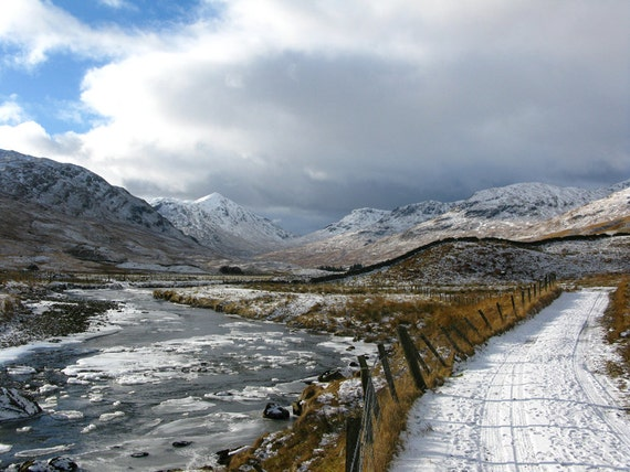 "Winter in the Glen (Glen Lochay, by Killin) (15"" x 10"" Photographic Print)"