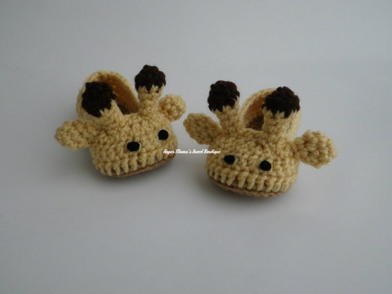 Crochet Giraffe Booties - Babies and Toddlers MADE TO ORDER Gender Neutral. Jungle / Zoo Theme (Children and Adult Sizes listed by request)