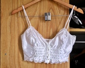 White Lacy Soft Cup Bralette Size XS/S
