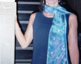 Stars in the Midnight Sky silk scarf