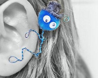 Ear Cuff - Monster, Creature, Critter, Wire Wrap, Felt Top ...