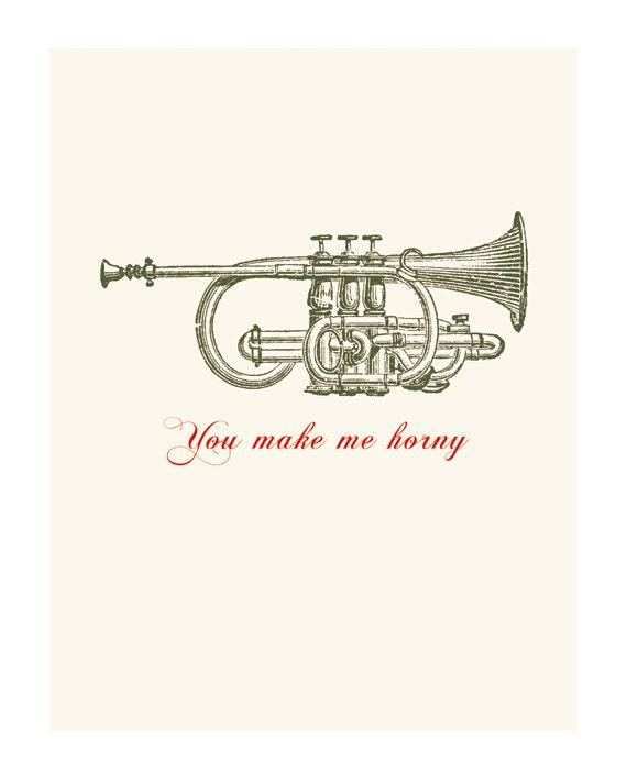 Naughty Love Funny Greeting Card You Make Me