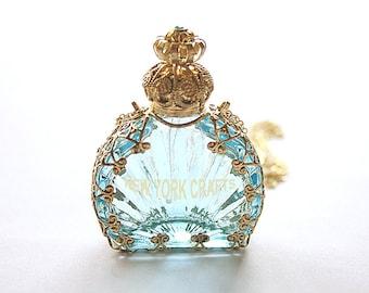 Aqua Dome Perfume Bottle Necklace
