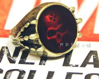 Hologram Skull in Red Ring